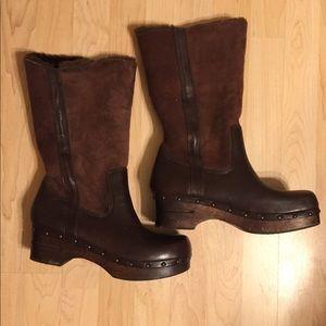 Frye sherpa heeled boots